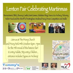 Promo Flyer for Martinmas Fair 2017