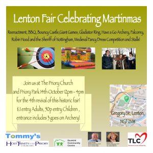 Promo Flyer for Martinmas Fair 2017